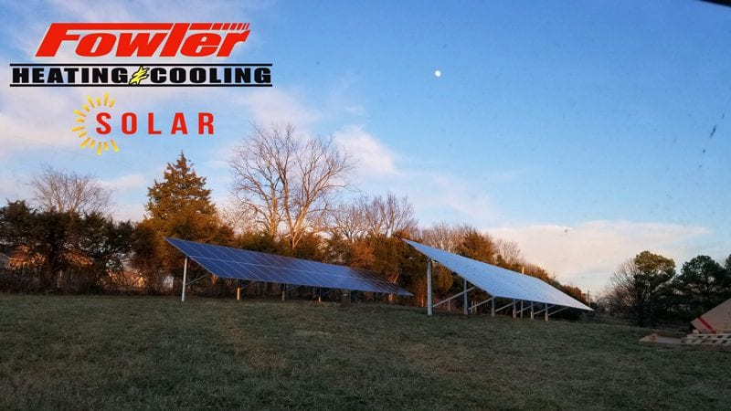 solar panels fowler heating and cooling