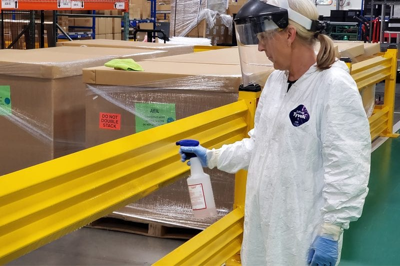 disinfecting warehouse