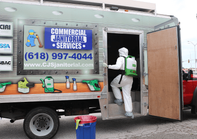 commercial janitorial services truck